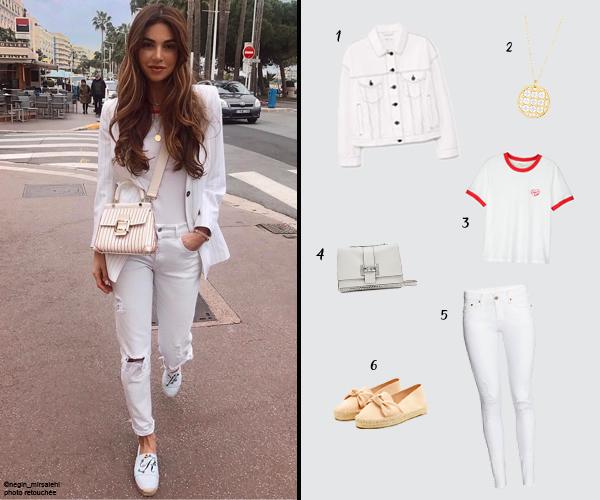 Je shoppe le total look blanc de l'instagrameuse Negin Mirsalehi !