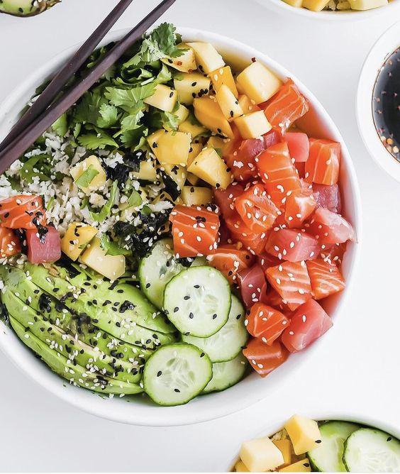 Pause gourmande sur le blog : la recette du Poke Bowl !